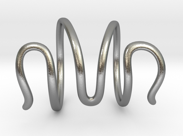 End Splint - Serpentine (14,75 mm + 13,5 mm) in Natural Silver