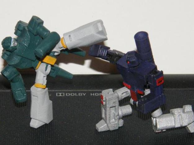 """""""Truncheon"""" Gunslinger figure 3d printed Robot mode, shown posed with Backlash (available separately)"""