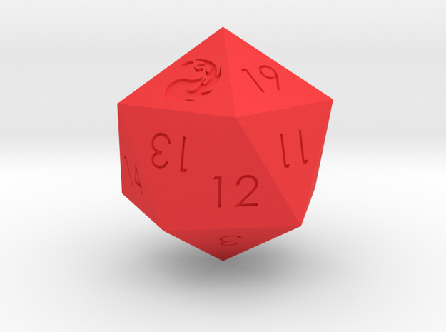 D20 Red Mana Symbol (MTG) in Red Strong & Flexible Polished: Medium