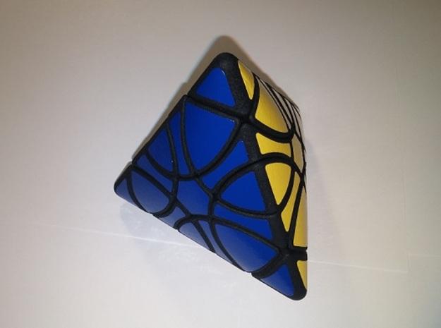 clover tetrahedron in Black Natural Versatile Plastic