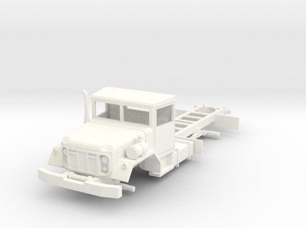 M809 5-ton 6x6 truck chassis 1/72  in White Processed Versatile Plastic