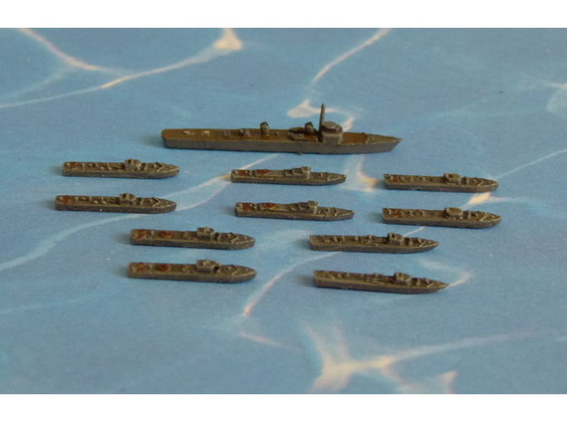 German Minesweepers Räumboote & Tender 1/2400 3d printed Add a caption...