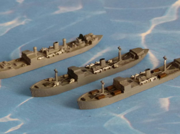 "German Auxiliary Cruiser HSK ""Coronel"" 1/1800 3d printed 1/2400 Model"