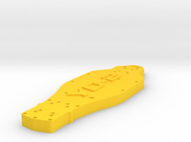 Yokomo YD2 Keychain in Yellow Strong & Flexible Polished