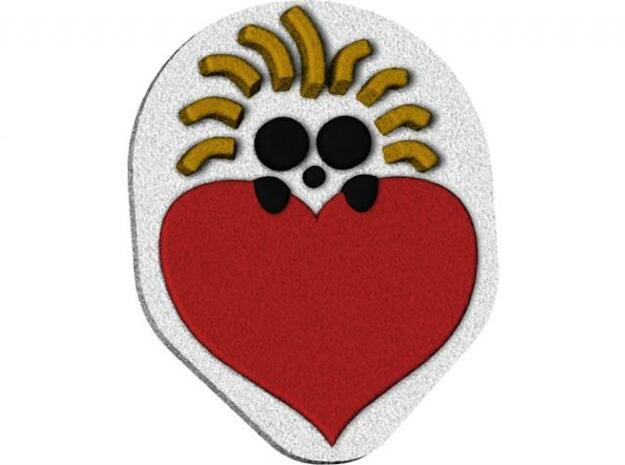 guinea heart 3d printed render