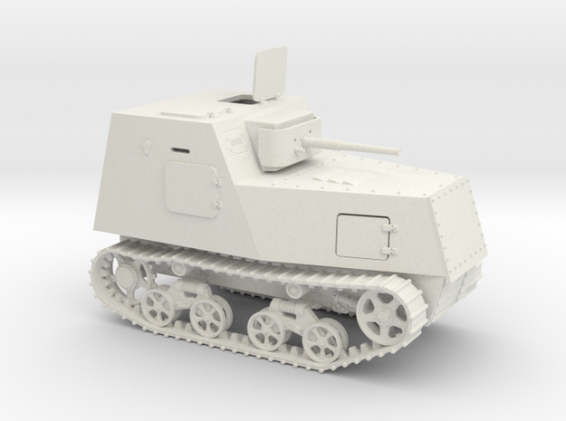 1/100th scale KHTZ-16 soviet armoured tractor in White Strong & Flexible