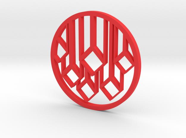 Tower Pendant in Red Processed Versatile Plastic