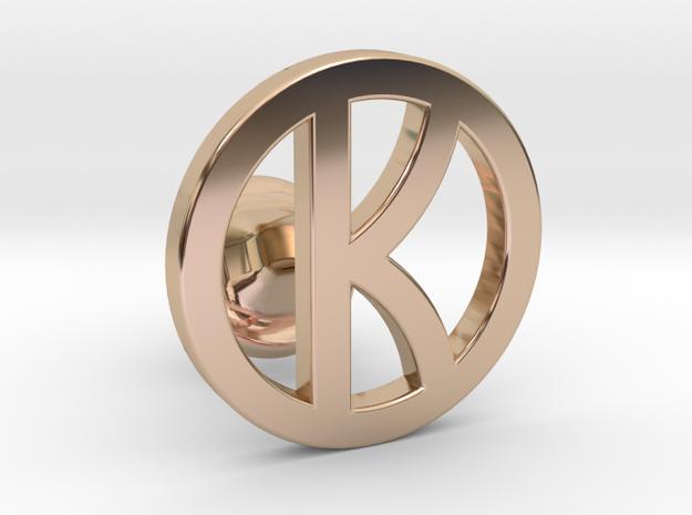 kingsman cufflinks - customizable in 14k Rose Gold Plated Brass