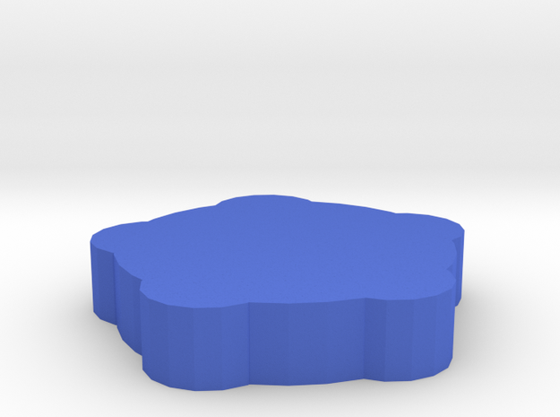 Game Piece, Round Walls, Round Towers in Blue Processed Versatile Plastic