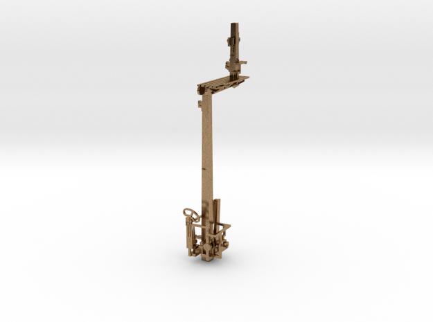 HO NSWR LQ LH Offset Bracket Signal + Parts in Natural Brass