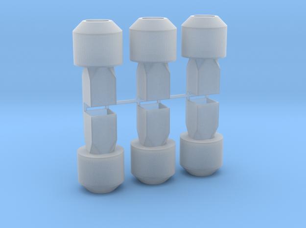 Dachlüfter 6erSet Typ 6 modern 1:120 in Smooth Fine Detail Plastic