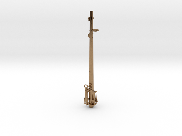 HO NSWR LQ Signal 27 ft Post + Parts in Natural Brass