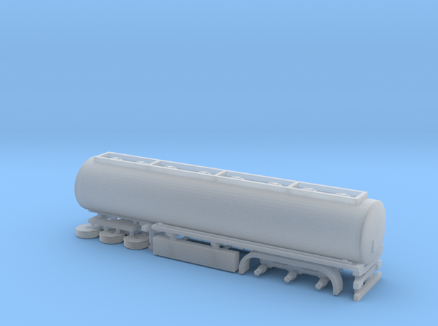 N Gauge Articulated Lorry Tanker Trailer in Smooth Fine Detail Plastic