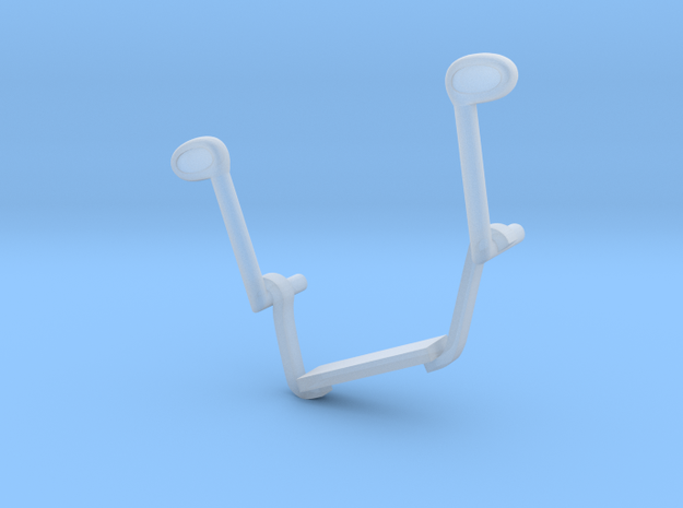 W02.4 6pdr gun foot support right in Smooth Fine Detail Plastic