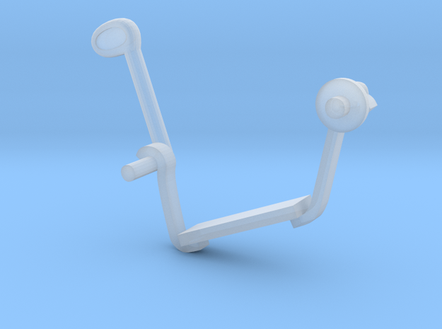 W02.5 6pdr gun foot support left in Smooth Fine Detail Plastic