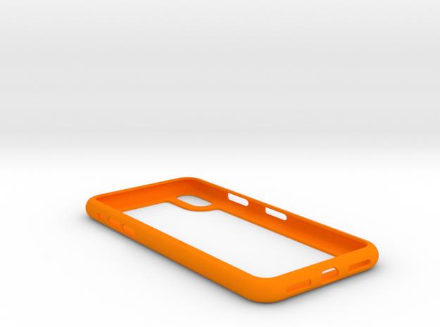 iphone X frame case in Orange Processed Versatile Plastic