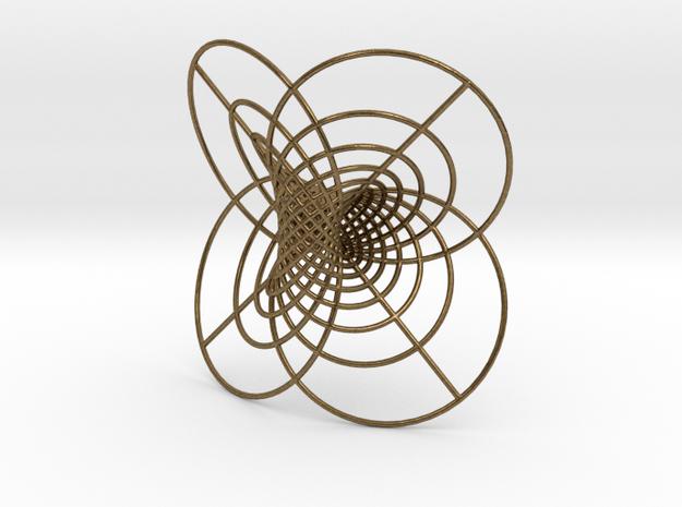 Hopf-12 circles in Natural Bronze