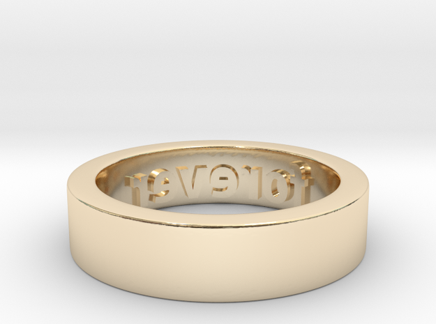 Forever Ring in 14k Gold Plated Brass: 6 / 51.5