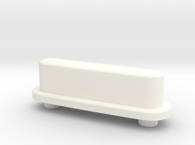 BoneClone CD32 - Pause/Start Button in White Processed Versatile Plastic