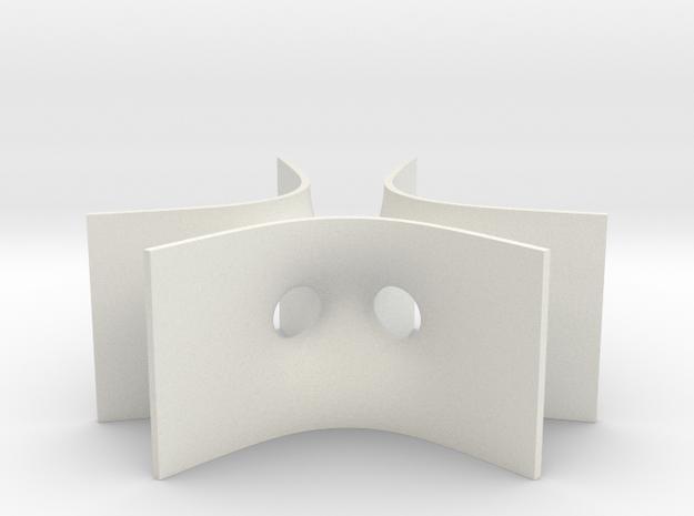 Karcher-Scherk Tower Minimal Surface in White Natural Versatile Plastic