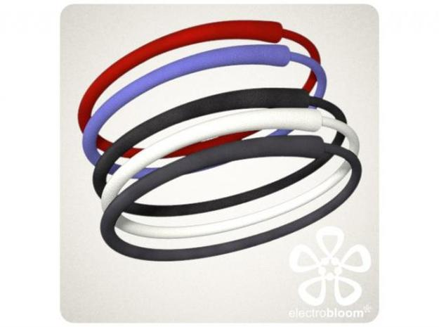Snap bangle. 3d printed SNAP BANGLE COLOUR OPTIONS