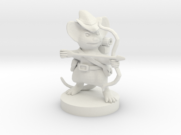 Mousefolk Ranger in White Strong & Flexible