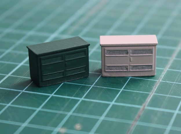 N Scale 630 kVA Transformer Housing in Smooth Fine Detail Plastic