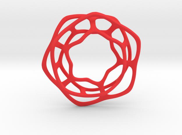 Hex Möbius, 64mm in Red Processed Versatile Plastic