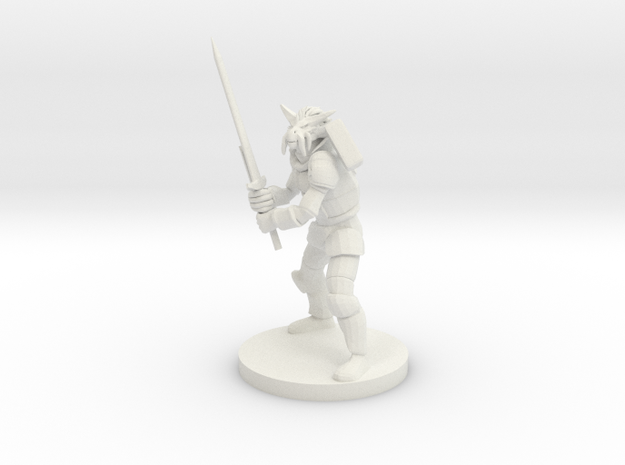 Dragonborn Great Weapon Fighter in White Natural Versatile Plastic