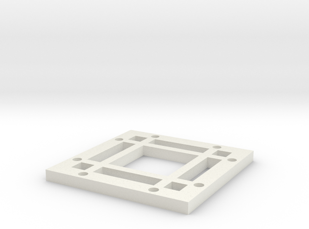 "2x2 Magnetic Base for 1.25"" grid(4 beams) in White Strong & Flexible"