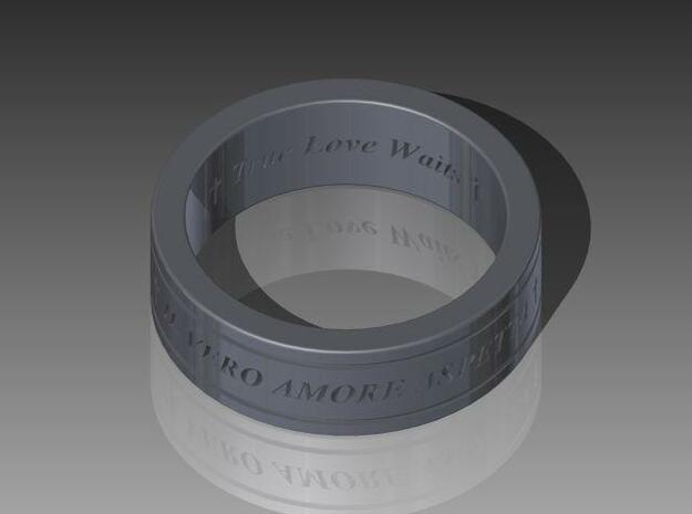 True Love Waits Ring - Italian 3d printed Description