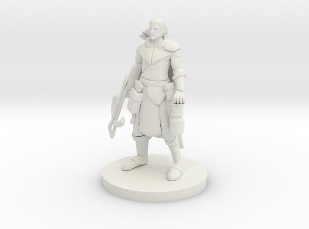 Elf Crossbow Ranger in White Strong & Flexible