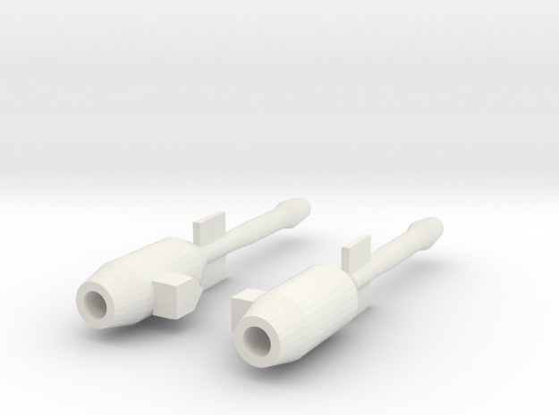 Blurr Jet Blasters in White Natural Versatile Plastic