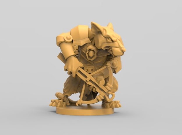 Elite Rat 1 - Mice and mystics in White Natural Versatile Plastic