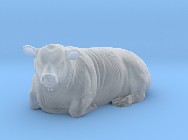 1/64 Lying Polled Bull Left Turn in Smooth Fine Detail Plastic