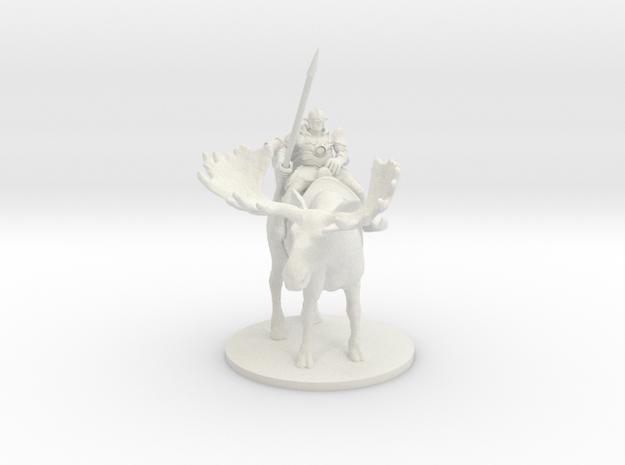 Elven Moose Rider in White Strong & Flexible