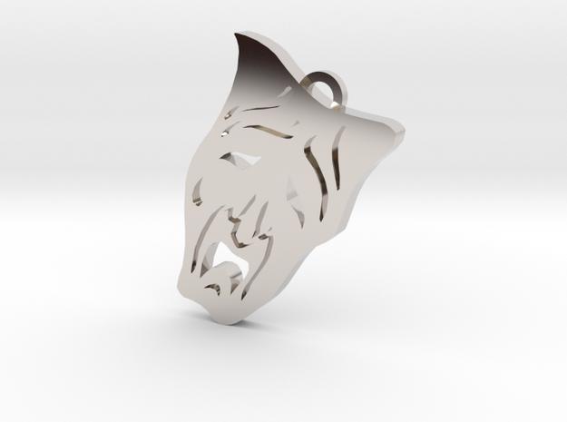 Nosferatu clan symbol pendant in Rhodium Plated Brass