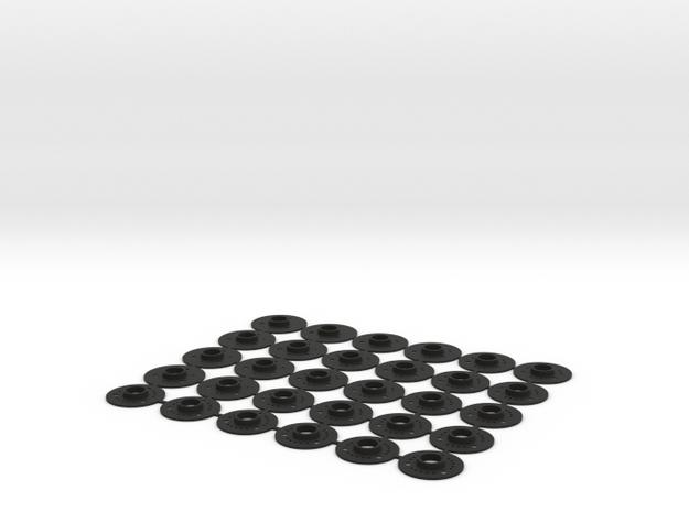 kit flans 3D GLA & MR03 in Black Natural Versatile Plastic