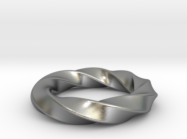 Square Around - Ring in Natural Silver: 7 / 54