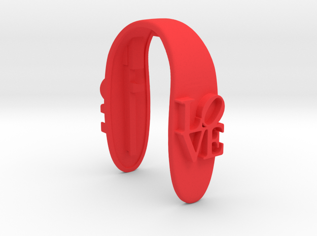 LOVE # 35 key fob in Red Processed Versatile Plastic
