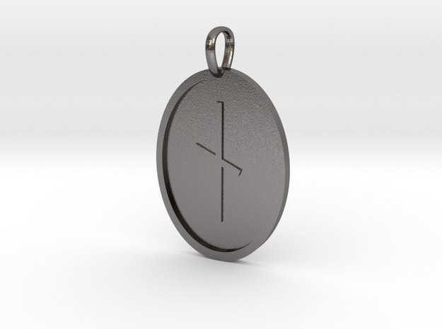 Nyd Rune (Anglo Saxon) in Polished Nickel Steel
