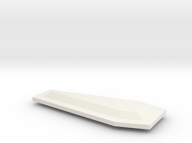 "1"" long coffin_Lid_A in White Natural Versatile Plastic"