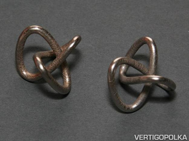 Classic Trefoil Knot 30mm 3d printed Classic Trefoil Knot 30mm stainless steel