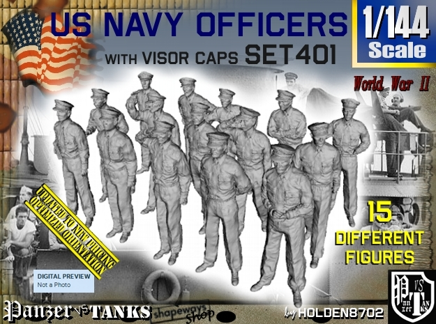 1/144 USN Officers Set401 in Frosted Ultra Detail