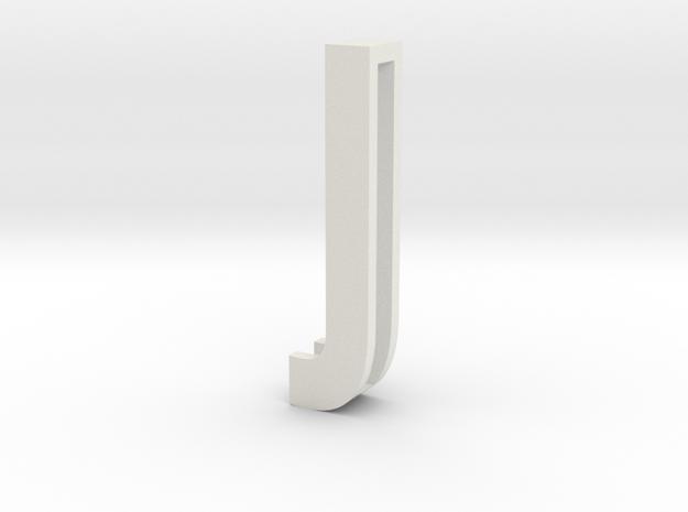 Choker Slide Letters (4cm) - Letter J in White Natural Versatile Plastic