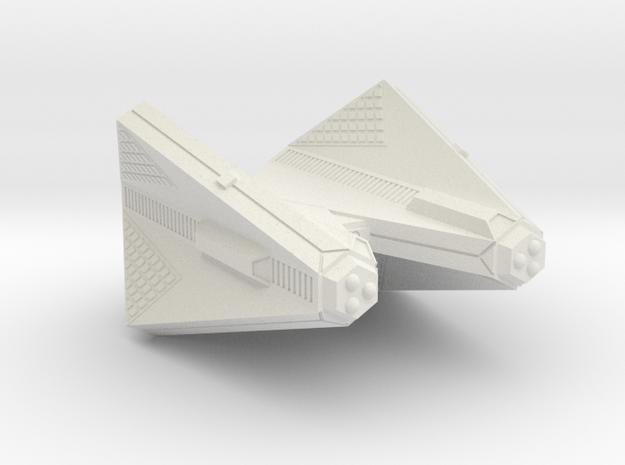 3788 Scale Tholian Heavy Cruiser (CA) SRZ in White Natural Versatile Plastic
