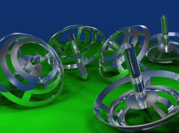 Second Harmony of the Spheres 3d printed Blender render multiple