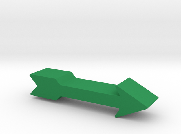 Arrow Game Piece in Green Strong & Flexible Polished