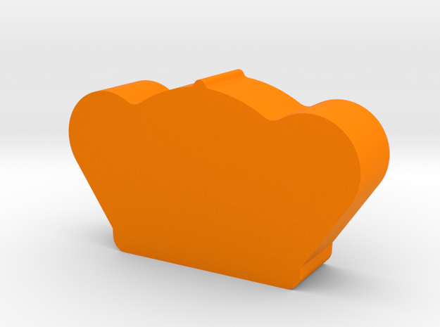 Crown Game Piece in Orange Strong & Flexible Polished