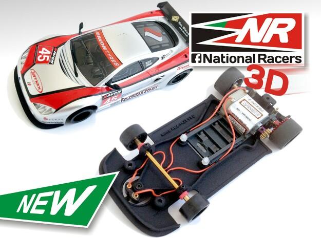 3D Chassis - Ninco Ascari KZ1 (AW/SW) in Black Natural Versatile Plastic